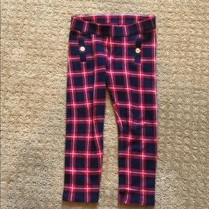 Janie and Jack girls pants with plaid print